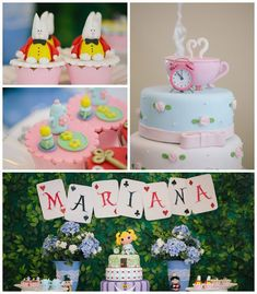 Alice in Wonderland birthday party with Lots of Cute Ideas via Kara's Party Ideas | Cake, decor, desserts, favors, printables, games, and MO...:
