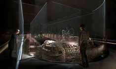 Seven meters below ground, archaeological remnants of the temple are coupled with immersive walls of light, creating a three-dimensional superstructure. Wall Of Light, Light Art, Gallery Lighting, Stone Masonry, London Museums, Ancient Mysteries, Museum Exhibition, Ancient Romans, Design Agency