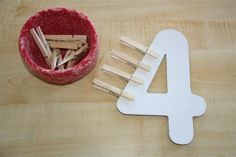 clothespin count (fine motor)