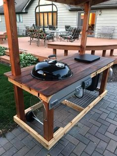 Outdoor Kitchen Ideas on a Budget (Affordable, Small, and DIY Outdoor Kitchen Id. - Outdoor Kitchen Ideas on a Budget (Affordable, Small, and DIY Outdoor Kitchen Id… – Outdoor Ki - Simple Outdoor Kitchen, Rustic Outdoor Kitchens, Outdoor Kitchen Bars, Backyard Kitchen, Outdoor Kitchen Design, Kitchen On A Budget, Diy Kitchen, Kitchen Ideas, Kitchen Layouts