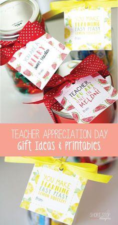 Teacher Appreciation Day Gift Ideas + Printables