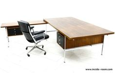Executive Rosewood Writing Desk by Preben Fabricius & Jorgen Kastholm, Kill | From a unique collection of antique and modern desks and writing tables at http://www.1stdibs.com/furniture/tables/desks-writing-tables/