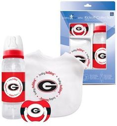 Georgia Bulldogs Baby Georgia Bulldogs Baby Gift Set | eBay-- just what every MOMMA TO BE needs :)
