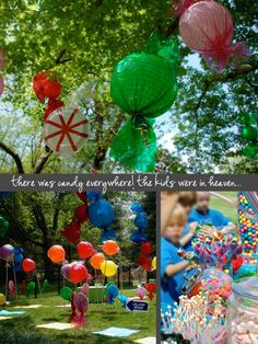 Candy themed party!! You could also make m and skittles!!