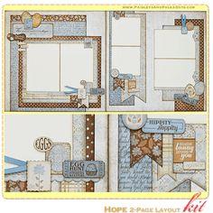 Scrapbooking Layouts   Paisleys & Polka Dots: March 2013 Mini Album and Scrapbook Layout Kits ...