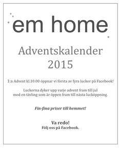 Adventskalender på Facebook!