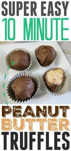 Easy chocolate peanut butter truffles recipe! Only takes 10 minutes! #ad #BornOnTheFarm