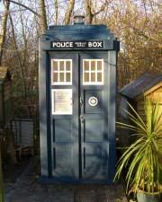 """Tardis shed!!!  Should I pin to """"Garden"""" or """"Mystic Place and Things""""???"""