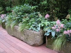 Stone Garden Planters And Troughs A large stone trough in the garden of the late joe elliotts in planting ideas for stone troughs original stone troughs workwithnaturefo