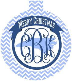 North Carolina Monogrammed Christmas Ornament, UNC ornament | Brant Point Prep