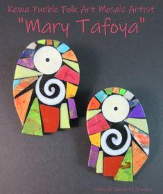 Black Tie Party, Pueblo Pottery, Mexican Outfit, Coral Orange, Mosaic Art, Santa Fe, Geometric Shapes, Black Backgrounds, Folk Art