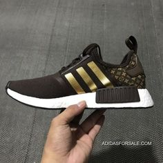 1fb820fd1f0d0 LV X ADIDAS NMD R1 BROWN WHITE GOLD BA7789 OUTLET