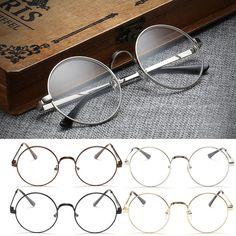 Шикарные Очки Ретро Большие Круглые очки Металлический Каркас Прозрачные Линзы Очки Nerd Очки-Y107