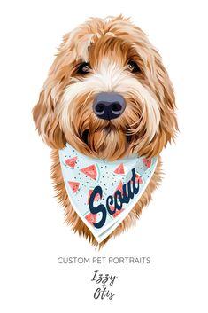 Expert Portraits Created From Your Pet Photos Custom Dog Portraits, Portraits From Photos, Dog Photos, Pet Portraits, Digital Portrait, Portrait Art, Digital Art, Dog Illustration, Dog Memorial