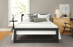 Love this for bach pad too. Perspective Bed in Natural Steel - Beds - Bedroom - Room & Board