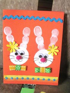 carte lapin paques