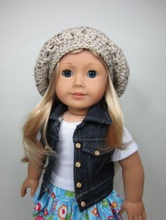 American girl doll clothes oatmeal slouch by JazzyDollDuds