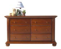 Baby Cache 6 Drawer Dresser Classic Chestnut // Description The Baby Cache  Heritage 6 Drawer