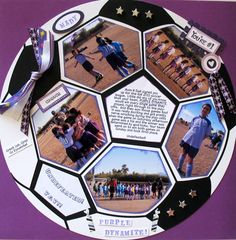 LOVE THIS IDEA!!! Awesome soccer scrapbooking layout for my bro's soccer pictures back in the day