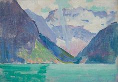ARTHUR WESLEY DOW, American (1857-1922), View of Lake Louise, Alberta Canada,...
