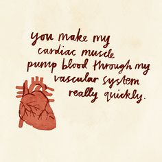 Cardiac Muscle card by hellojenuine on Etsy, $4.00