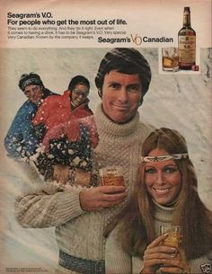 Another photo purporting to prove the existence of toboggan fairies. (Funny bad retro liquor ads)