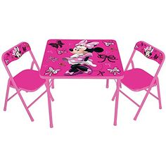Disney Minnie Mouse First Fashionista Kids Furniture Activity Table Set with Chairs - Most Wanted Christmas Toys Minnie Mouse Table, Minnie Mouse Toys, Mickey Mouse And Friends, Disney Mickey Mouse, Disney Disney, Disney Frozen, Kids Table And Chairs, Kid Table, Table And Chair Sets