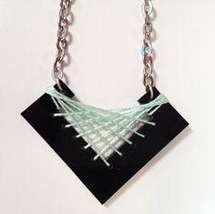 Black acrylic geometric necklace