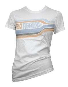 79cf88155aa Foo Fighters Womens Striped White Tissue Tee - Guaranteed Authentic. Fast  Shipping. Rocker Style