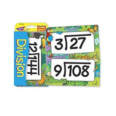 Low Vision Division Pocket Flash Cards - Educational - MaxiAids