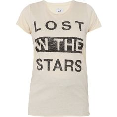ZOE KARSSEN Lost In The Stars Tee ($41) ❤ liked on Polyvore featuring tops, t-shirts, shirts, tees, relaxed fit t shirt, long tee, pattern t shirts, no sleeve t shirts and t shirts