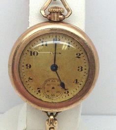 Antique Elgin Pocket Gold Filled Watch 21838556 #Elgin