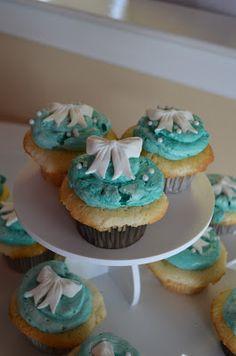 Tiffany Blue Bridal Shower Cupcakes
