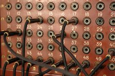 Classic telephone switchboard