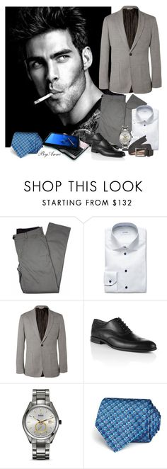 """Hey You !"" by anne-977 ❤ liked on Polyvore featuring Lords of Harlech, ETON, Billy Reid, Rado, Salvatore Ferragamo and DKNY"
