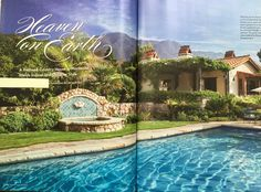 Perhaps a bit lush for our SW setting, but great pool surround and lead into back courtyard.  Phoenix Home & Garden Magazine