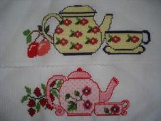 Krížikové vyšívanie: Danka a Jurko :-) Plymouth, Cross Stitch, Blog, Counted Cross Stitches, Dish Towels, Crocheting Patterns, Dishes, Kitchen, Xmas