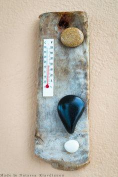 ΘΕΡΜΟΜΕΤΡΑ ΑΠΟ ΘΑΛΑΣΣΟΞΥΛΑ Rock Art, Bottle Opener, Cave Painting, Stone Art, Pebble Art