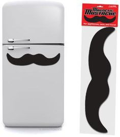 Giant Magnetic Mustache!  getting it.