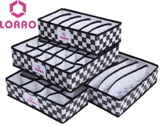Cheap box office, Buy Quality box directly from China box massage Suppliers:   LOAAO  4 in 1 per set foldable storage box Bamboo Charcoal fibre home organizer Box for bra,underwear,neckti