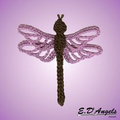 Crochet pattern applique DRAGONFLY by LassCrochet on Etsy