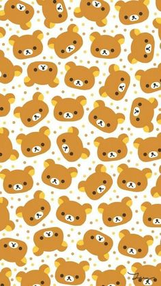 [人気キャラ大盛り]リラックマ iPhone壁紙 Wallpaper Backgrounds iPhone6/6S and Plus  Rilakkuma Pattern iPhone Wallpaper