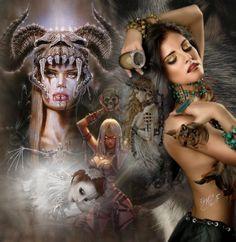 Art Illustrations, Photo Illustration, Digital Illustration, Female Grim Reaper, Skeletons, Photo Manipulation, Friendship Quotes, Dark Art, Skulls