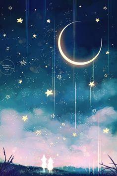 58 best Ideas for galaxy art painting guys Witchy Wallpaper, Star Wallpaper, Cute Wallpaper Backgrounds, Pretty Wallpapers, Galaxy Wallpaper, Nature Wallpaper, Phone Wallpapers, Main Manga, Beautiful Moon