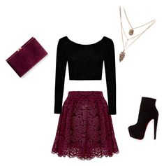 """Untitled #2"" by amila-m ❤ liked on Polyvore featuring Alice + Olivia, Boohoo, Christian Louboutin, Monsoon, Color, skirt, beautiful, NightOut and highheels"