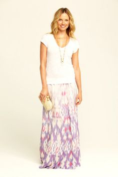 amazing ikat maxi skirt!