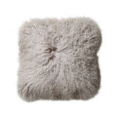 Tibetan Lamb Pillow - Grey