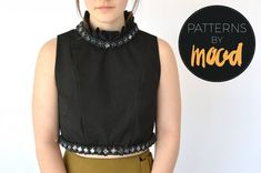 Mood DIY: Free Beaded Crop Top Sewing Pattern - Mood Sewciety Sewing Patterns Free, Clothing Patterns, Free Sewing, Free Pattern, Hand Sewing, Mood Designer Fabrics, Mood Fabrics, Diy Clothes Alterations, Diy Summer Clothes