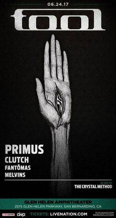 Tool, Primus, Clutch, Fantomas, Melvins Poster