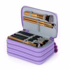 Item Type: Makeup Brush Material: makeup case Quantity: 1 pcs Size: pencil case Brush Material: Nylon Used With: Sets & Kits color: purple black rose red function: makeup bags pencil case hair materia